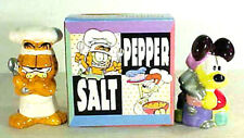 Vintage Garfield & Odie Comic Salt & Pepper Shakers- BOXED- Unused
