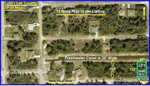 FLORIDA CANAL LOT Land Lehigh Acres Cape Coral Fort Myers Charlotte Naples fl