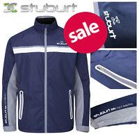 Stuburt Torrent Waterproof Golf Jacket Men's Full-Zip - Midnight Navy NEW! 2020