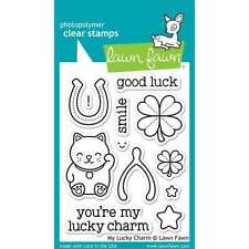 NEW LAWN FAWN MY LUCKY CHARM ACRYLIC STAMP SET