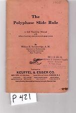 K&E Polyphase Slide Rule Manual, sliderule, good cond, (P421)