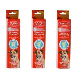 Enzymatic Toothpaste for Dogs 3 Pack Total 7.5 oz Poultry Flavor from Petrodex