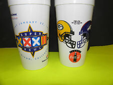 NFL- SUPER BOWL XXXII-32-DENVER BRONCOS VS. GREEN BAY PACKERS HELMIT COKE CUP