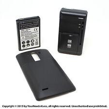6800mAh Extended Battery for LG G3 D855 VS985 Black Cover Dock Charger