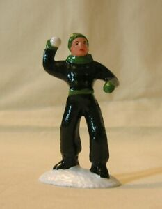 Man Throwing Snowballs, Christmas Village, model train layout, New/Conversion