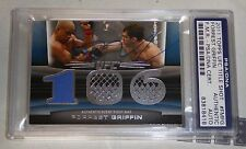 Forrest Griffin Signed UFC 2011 Topps Title Shot Fight Mat Relic Card FG PSA/DNA
