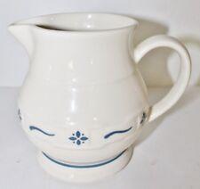 Longaberger Pottery 1 Qt Large Pitcher Woven Traditions Blue Retired Pt115 -Mint