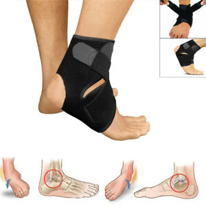 Ankle Support Compression Strap Achilles Tendon Brace Foot Sprain Injury Wrap UK