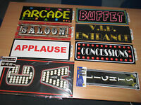 Party Sign cut out decorations Food signs, VIP, prop decoration hollywood