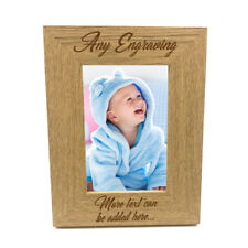 Personalised Wooden Photo 4 x 6 Frame Custom Engraved Any Message FW28246