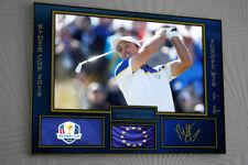 Francesco Molinari Ryder Cup 2018 Golf Clip Glass Framed Canvas Tribute Print