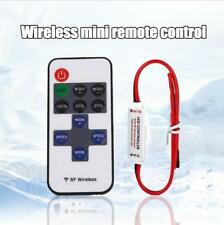 Mini 12V Wire RF Wireless Remote Switch Controller Dimmer for LED Strip Light