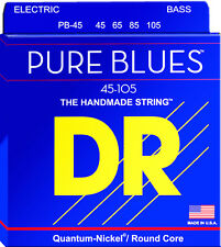 DR PB-45 PURE BLUES QUANTUM-NICKEL BASS STRINGS, MEDIUM GAUGE 4's  45-105
