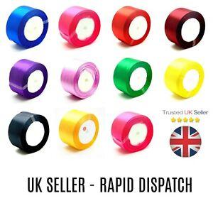 "FULL ROLL - Premium Quality Satin Ribbon Roll 50mm 2"" inch Wedding Party Wrap UK"
