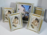 BURNES of BOSTON Belvedere Silver 5x7/8x10 Picture Frames Lot of (5)