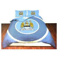 Manchester City FC Official Bullseye Reversible Duvet Cover Bedding SG3083