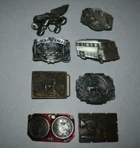 Vintage Brass/Metal Belt Buckle Lot U.S.A.