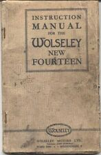 Wolseley New Fourteen 14 1935-36 Original UK Factory Owner's Handbook