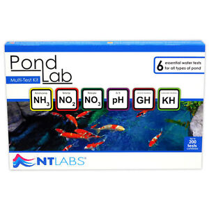 NT LABS POND LAB 200 MULTI TEST KIT MASTER PONDLAB WATER SET PH GH KH NO2 NO4