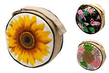 Round Handbags - Eco Friendly Handbags - Jute & Cotton Hippy Boho Shoulder Bags