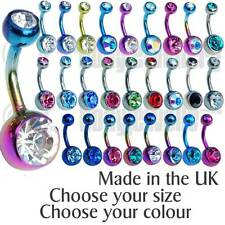 TITANIUM BELLY BARS 6mm, 8mm, 10mm, 12mm THE BEST g23 - MADE IN THE UK-FREEPOST