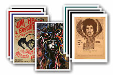 JIMI HENDRIX - 10 promotionnel affiches - de collection lot carte postale # 1