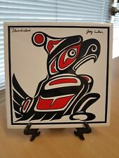 THUNDERBIRD BIRD PORCELAIN TILE WALL PLAQUE JODY WILSON COAST SALISH NATIVE ART