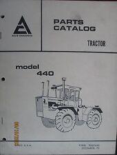 Allis-Chalmers Parts Catalogue Manual Tractor  Model 440  FACTORY ORIGINAL