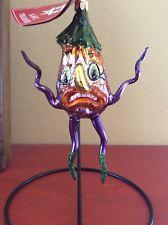 Rare Slavic Treasures Earl Polish Free-Blown Glass Halloween Ornament