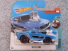 Hot Wheels 2017 #124/365 1968 ford MUSTANG bleu Tooned Nouveau Fonte