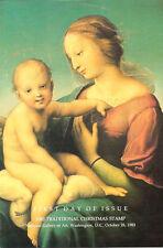 #2063 FD Program 20c Christmas Madonna Stamp
