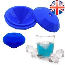 *UK Seller* LARGE Silicone Giant Diamond Shape Ice Cube Tray Chocolate Mould Gem