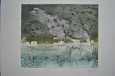 Originaldrucke (1950-1999) mit Landschafts-Motiv