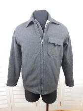 Abercrombie & Fitch Wool Blend Jacket Adult Small Gray Full Zip Pocket Mens