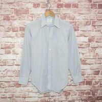 BILLY REID Heirloom Collection Men's Dress Shirt Blue Brown Grid check 15 1/2