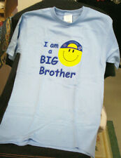 Big Brother Smiley Face T-Shirt, Blue, Size Extra Small (2-4), Brand New