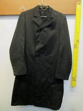 Vintage 19th century coat frock Edwardian ca. 1880's black wool long opera rare!