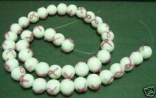 Breast Cancer Awareness Glass Bead craft supplies 10 MM pink cure race walk run