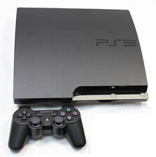 SONY PLAYSTATION 3 PS3 SLIMLINE SLIM 120GB CHARCOAL CONSOLE + CONTROLLER BUNDLE