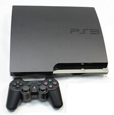 SONY PLAYSTATION 3 PS3 SOTTILE SLIM 160GB CARBONE CONSOLE + JOYSTICK PACCHETTO
