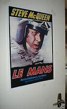 Steve McQueen Le Mans Door Poster #4 Repro Poster