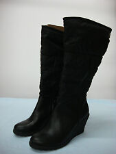 NWOT Women's Croft & Barrow  Long Top Pull On Boots Black Size 7 1/2 M #13