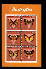 Guyana 2013 neuf sans charnière papillons i 6v m/s insectes nature danaus timbres
