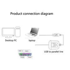 MACCHINA PER INCIDERE 4 AXIS ADATTATORE DA USB A PARALLELA COMPUTER stabile per MACH 3 UC100