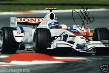"""Controlador de prueba de 1 forumla Anothony Davidson foto firmada de mano 12x8"""" F1 AE"""