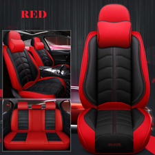 Auto Car Front & Rear Seat Cover Luxury PU Leather Breathable Cushion Universal
