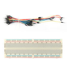 830 Tie Points Solderless Pcb Breadboard Mb102+65PcJumper Cable Wires Ss