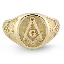 NEW Mens Solid 18K gold Masonic Ring Freemason Master Mason Solid Back QUALITY!
