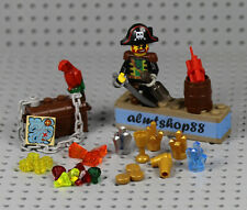LEGO - 28 pcs Lot Treasure Chest - Pirate Captain Jewels Gold Gems Map Booty