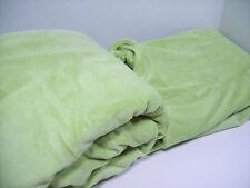 Pottery Barn Kids Green Cozy Soft Chamois Full Queen Duvet Cover New
